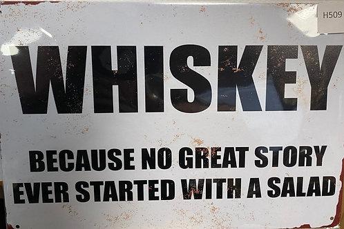 Whiskey because.... H509
