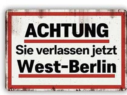 Achtung Sie verlassen West Berlin  THA286