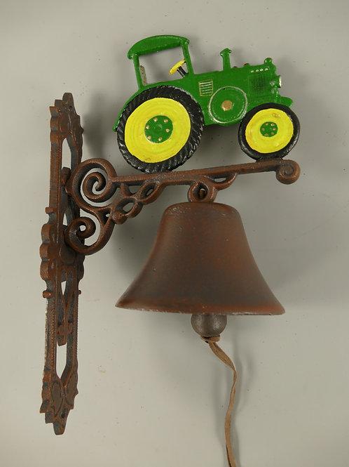 Gietijzeren bel Groene tractor  102.524GR