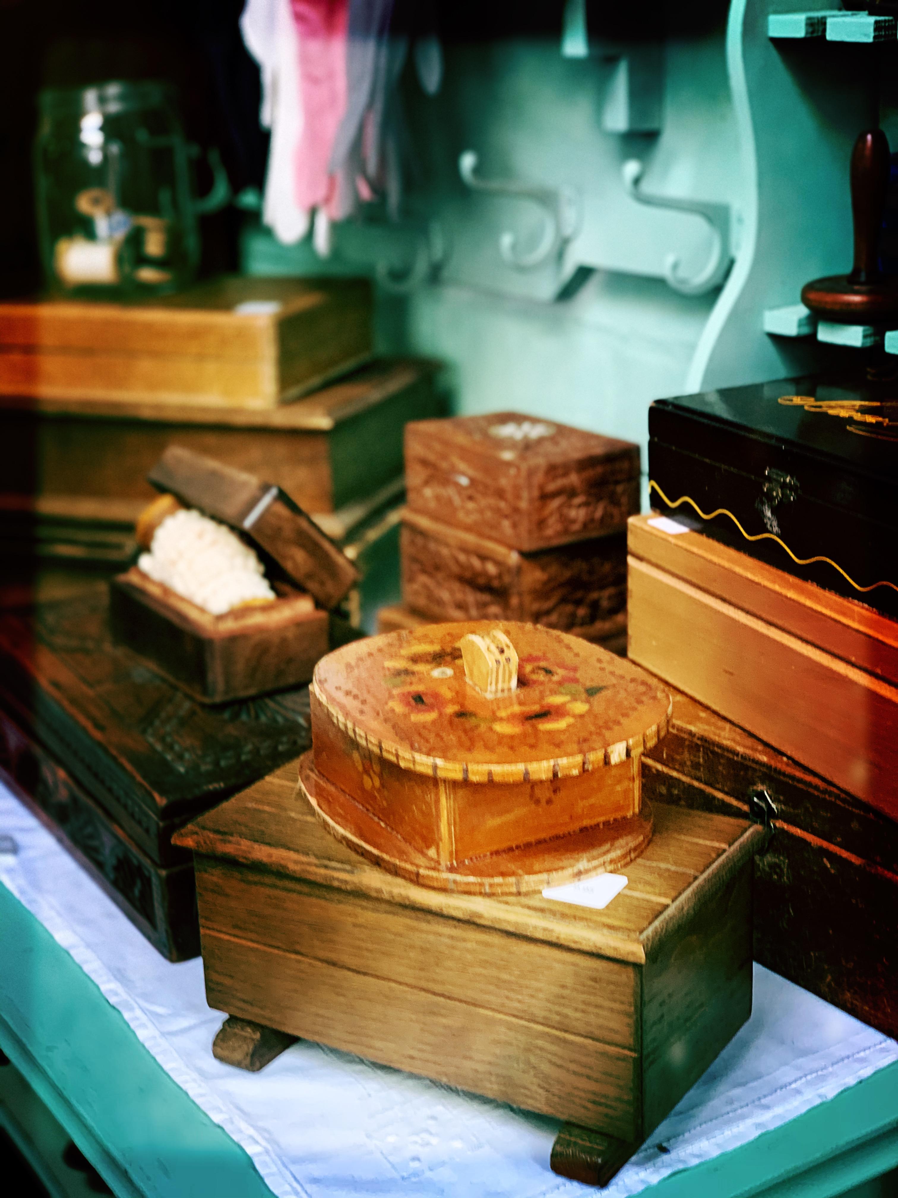 antieke sieraden sigaren doosje box