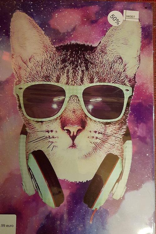 Kat met groene bril  HK007