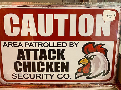 Caution Area Patrolled by Chicken   HK425
