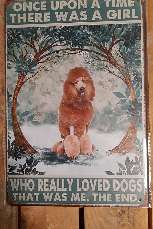 Love my Poodle/   bruine poedel   KE025