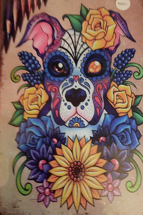 Dog Skull Bloem K0311
