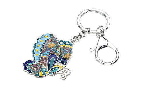 Sleutelhanger geëmailleerde vlinder  HK608