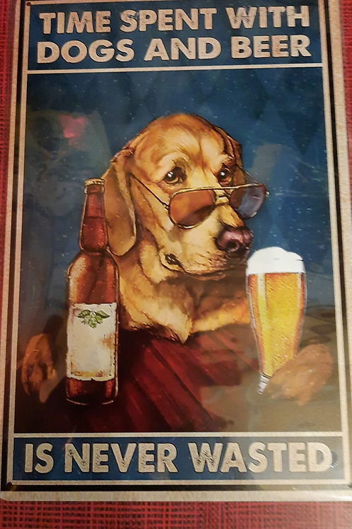 Time spent with Dogs and Beer  HK0408 Golden Retriever