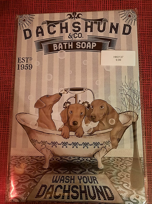 Dachshund Bath Soap  HK0137