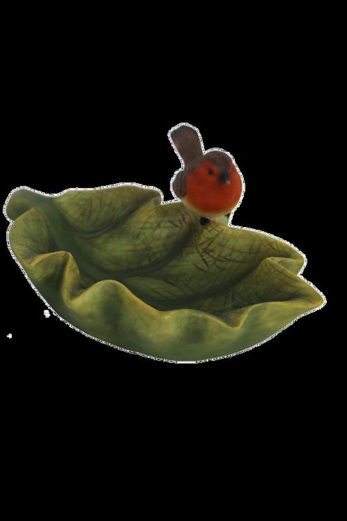 Vogelbad in bladvorm 37000459R BINNENKORT LEVERBAAR