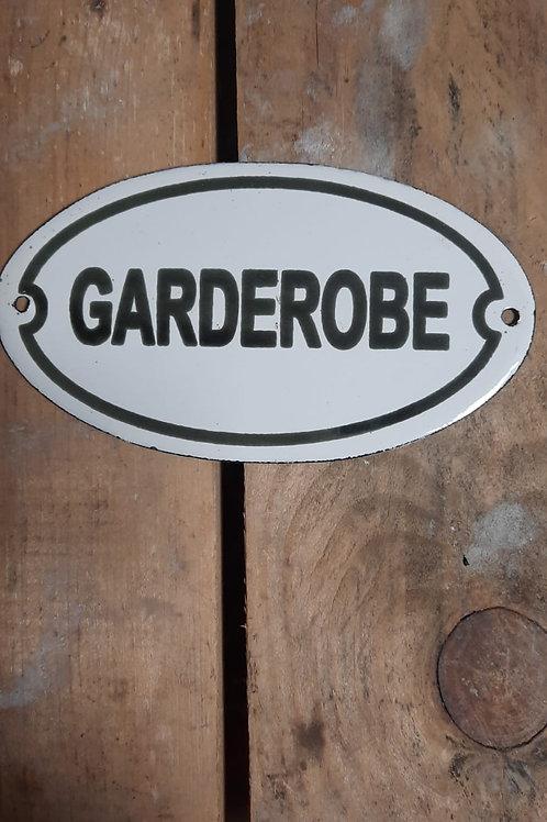 Emaille deurplaat Garderobe BK12