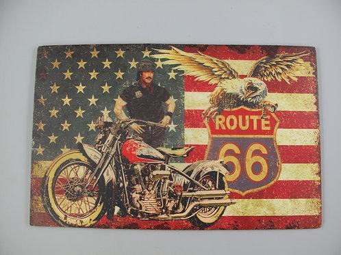 Route 66 met vlag