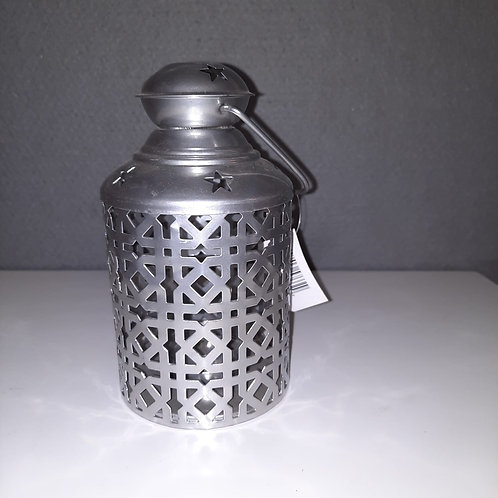 Kleine zilverkleurige lantaarn LAR2