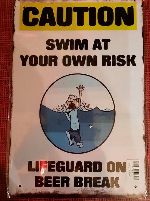 Swim at own risk  HK438