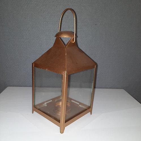 Vierkante gouden  lantaarn LAR8