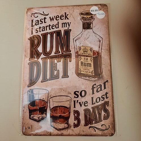 Last week I started Rum Diet  T0153