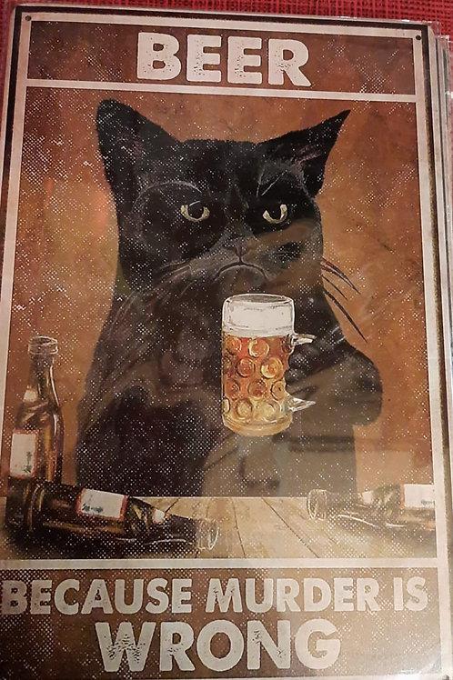 Beer because murder is wrong HK0414