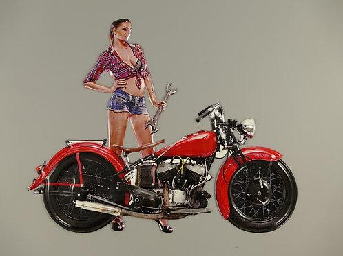 vrouw met motor   321.y035