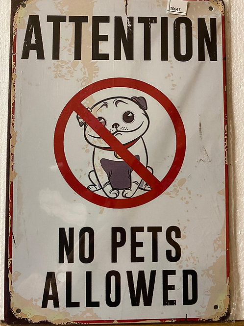 Attention No pets allowed  T0047