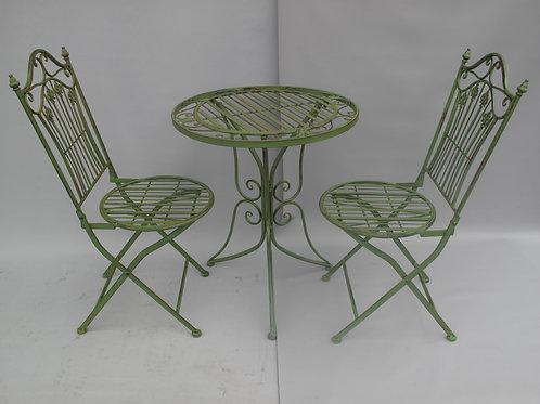 Bistroset mint groen 2x stel 1x tafel