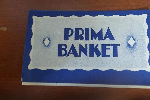Papieren etiket  Prima Banket Blauw