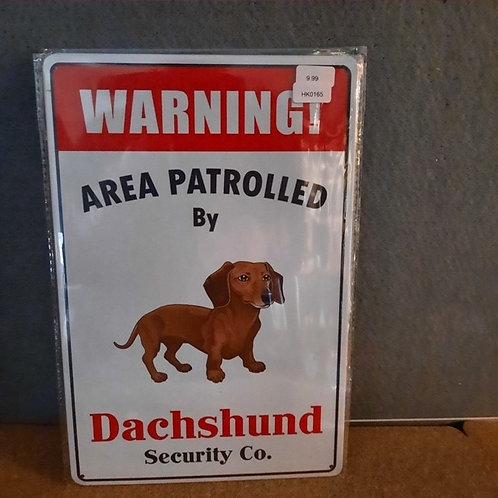 Warning Dachshund HK0165