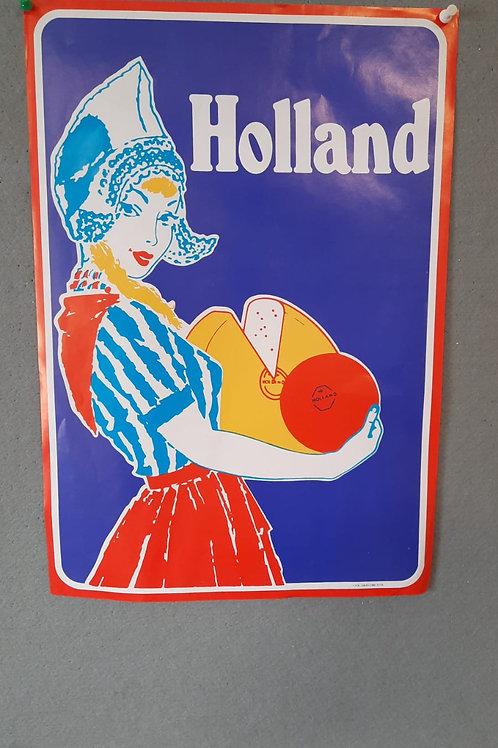 Reclameposter Holland Kaasmeisje