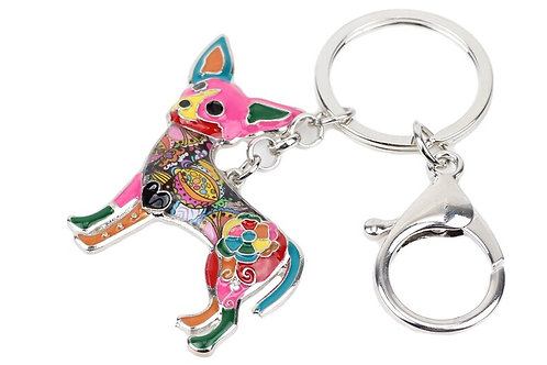Sleutelhanger  geëmailleerd HK0606 Chihuahua