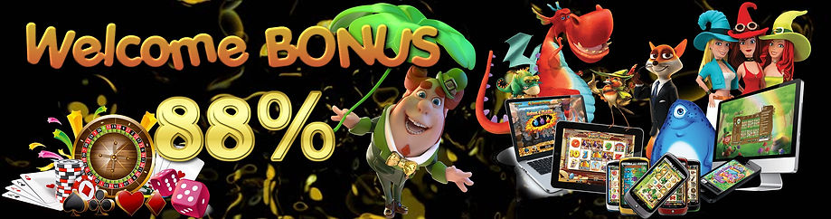 Online casino welcome bonus 88%