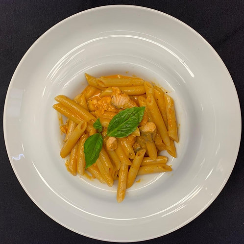 Penne Pasta With Salmon In Pink Vodka Sauce - For 2 People