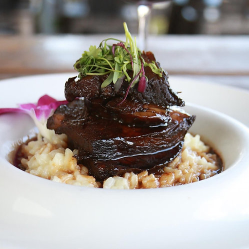 Braised Short Ribs In Malta Sauce With 2 Sides - Minimum 2 To Order
