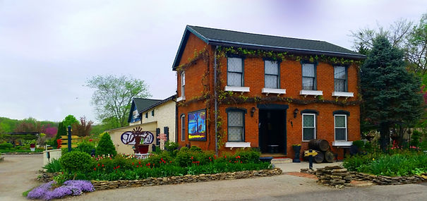 Lanthier Winery 123 Mill Street Madison, Indiana located in historic Madison and surrounded by French-inspired gardens