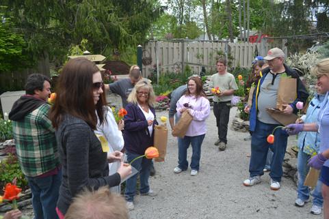 Garden class at Lanthier Winery