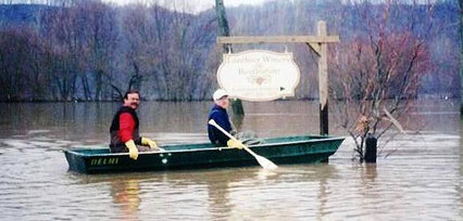 1997 - Rowing into Lanthier Winery