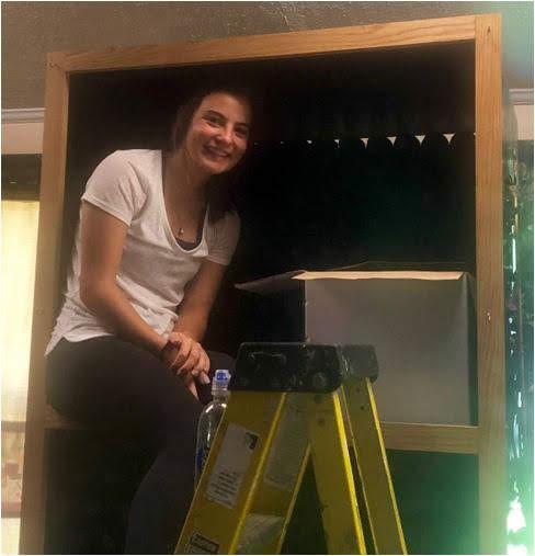 Bridget on a Ladder