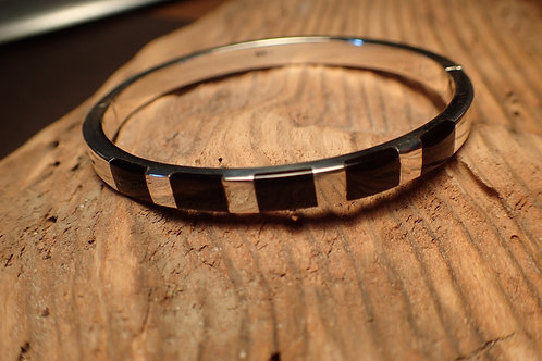 Whitby Jet and Silver Bangle