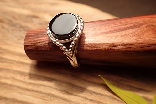 Whitby Jet and Silver Ring