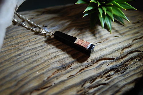 Whitby Jet and Redwood Pendant