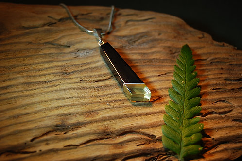 Whitby Jet and Amber Pendant