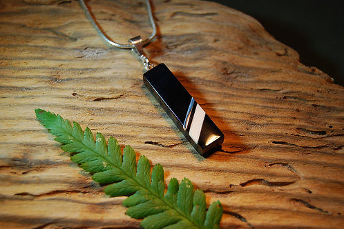 Whitby Jet and Ivory Pendant