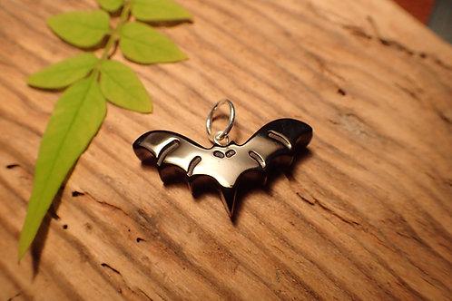 Whitby Jet Bat Gothic Pendant Jewellery
