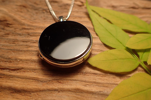 Round Whitby Jet Locket