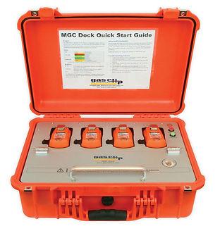 Gas Clip, multi gas clip dock, mgc dock, docking station, calibration station, bump test station