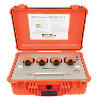 gas clip, multi gas clip dock, portable docking station, calibration station, bump test station