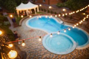 Paver pool deck, rustic