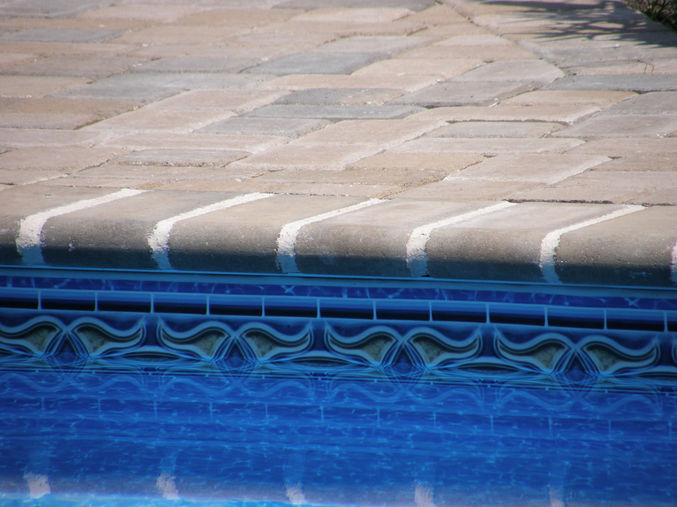 paver pool deck and bullnose coping