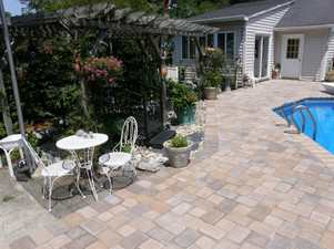 paver patio and pool deck