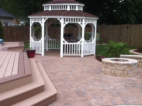 patio, deck, pergola and firepit