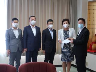 桜井市長にコロナ対策の要望書を提出しました!