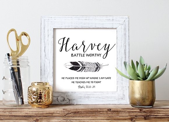 Simple Black Script and Feather Name Art