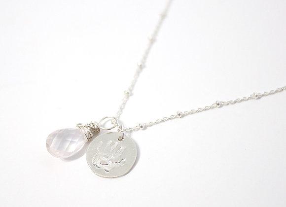 Restoring Childhood Necklace (Rose Quartz Sterling Silver)