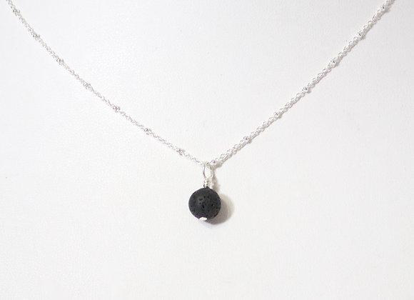 Lava Dangle Sterling Silver Necklace
